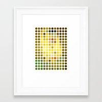 gustav klimt Framed Art Prints featuring Gustav Klimt Remixed (2009) by Gary Andrew Clarke