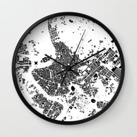 rome Wall Clocks featuring ROME by Maps Factory