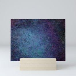 Grunge Violet Blue Mini Art Print
