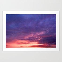 cloudy sky in sunlight colors Art Print