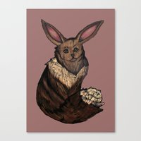 eevee Canvas Prints featuring Eevee by Papa-Paparazzi