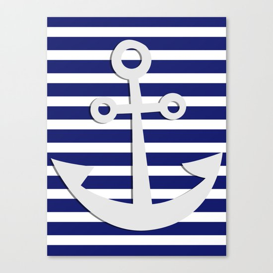 Hipster Sailing Canvas Print