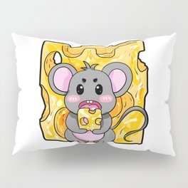 Mouse Cheese Party Cartoon Gift Present Boy Girl Pillow Sham