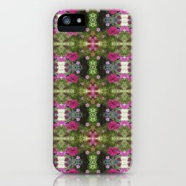 Pink and White Flowers reflection iPhone Case