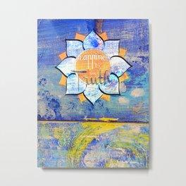 Happy Lotus Metal Print