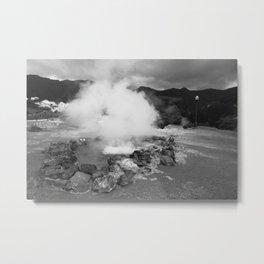 Hot spring Metal Print