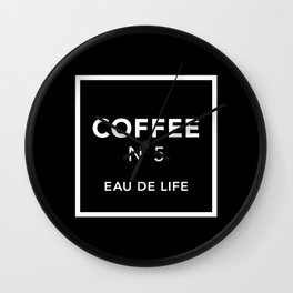 Black Coffee No5 Wall Clock