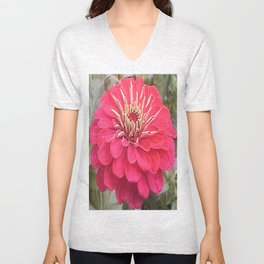 Zinnia Flower Unisex V-Neck