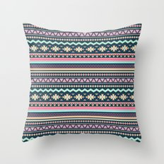 Colorful Aztec Tribal Pattern Throw Pillow