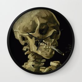 Vincent van Gogh - Skull of a Skeleton with Burning Cigarette Wall Clock