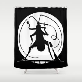 Party in the full moon Shower Curtain