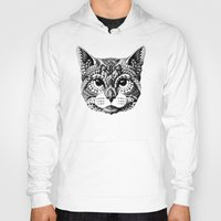 mythology Hoodies featuring Cat Head by BIOWORKZ