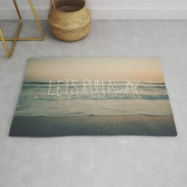 Let's Run Away by Laura Ruth and Leah Flores  Rug
