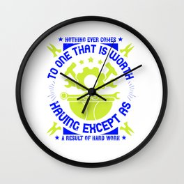 03.Nothing ever comes to one that is worth having except as a result of hard work Wall Clock