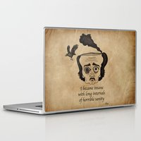 poe Laptop & iPad Skins featuring Poe insane by 2headedsnake
