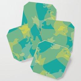 Blue & Yellow Corgi Pattern Coaster