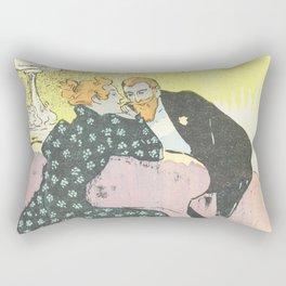 """Théophile Steinlen """"Sheet music Déclaration by Georges Herbert and Alfred Bert"""" Rectangular Pillow"""