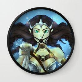 Mermaid Warrior Wall Clock