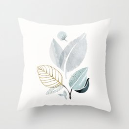 Sage and Such - Abstract Watercolor Botanical Throw Pillow