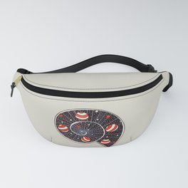 Spiral Galaxy Snail With Beach Ball Planets Fanny Pack