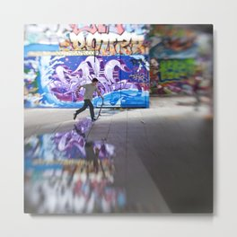 The Skateboarder Metal Print