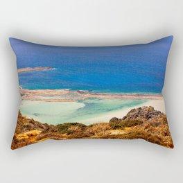 Balos Lagoon, Greece. Rectangular Pillow