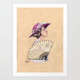 Lady Mary Cameo Art Print