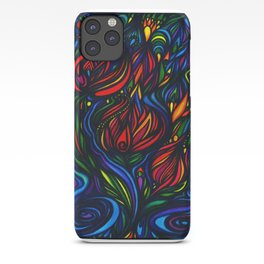 Flowers in Flame iPhone Case