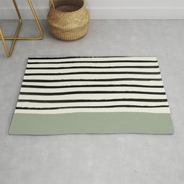 Sage Green x Stripes Rug