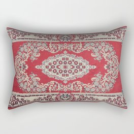 Traditional Glorious red rug Rectangular Pillow
