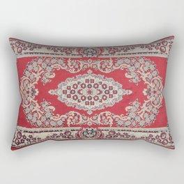 Traditional Glorious red rug Rectangular Pillow