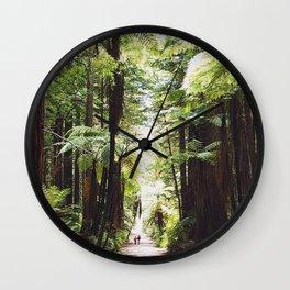 Rotorua red woods Wall Clock