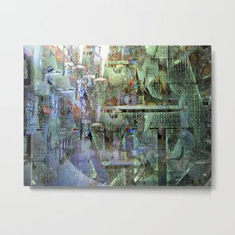Orderly chaotic custom obstruction, v. A Metal Print