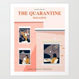 Quarantine Magazine Art Print