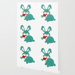 Colored  Easter bunny seamless pattern Wallpaper