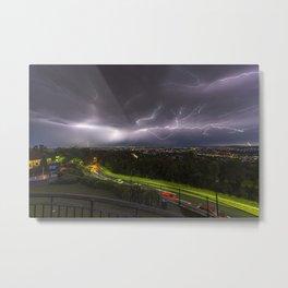 Summer Storm Over Brisbane Metal Print