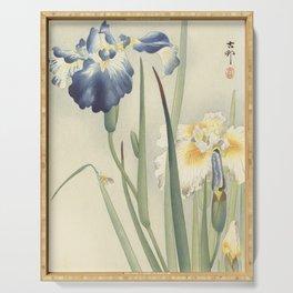 Ohara Koson, Iris Woodblock Print Serving Tray