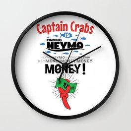 Captain Crabs is finding Neymo Wall Clock