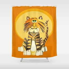 Tom's Moment in the Sun Shower Curtain