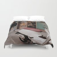 vespa Duvet Covers featuring Vespa by inesmarinho