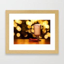 Holiday Eggnog Framed Art Print
