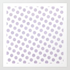 Polka Dots Watercolor Art Art Print