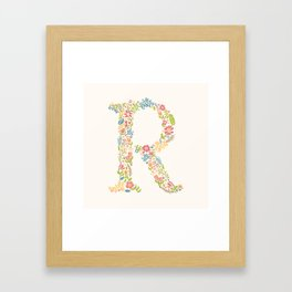 Alphabet R Framed Art Print