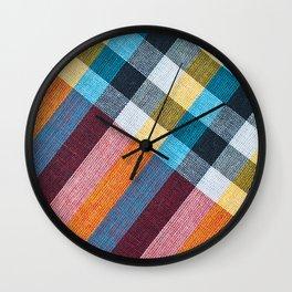 Closeup texture of Fabric, Thai style loincloth Wall Clock