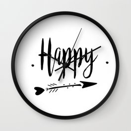 Happy Lettering-PM coll Wall Clock