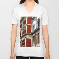 melbourne V-neck T-shirts featuring Melbourne Heritage by Carmen