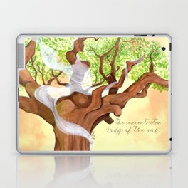 The concentrated Lady of the Oak Laptop & iPad Skin