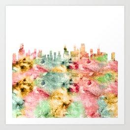 Chicago City Skyline Illinois Art Print