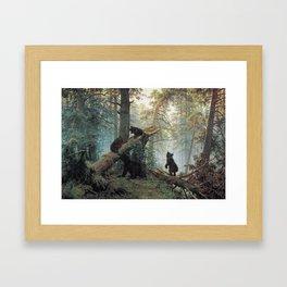 Shishkin Ivan Morning in a Pine Forest. Framed Art Print