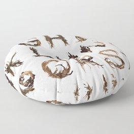 Stick Alphabet Floor Pillow